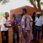 Llegada de autoridades, Gobernador de la Región de, Norte, Director de la Cárcel, Alto Comisario de la Región, 1er Adjunto del Alcalde de Ouahigouya, Procureur du Faso