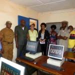 En la sala informática, había también representates del Ejército y de la Policía Nacional (que salen en la foto) y de la Gendarmería